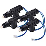Zone Tech 4-Pack Universal High Power Door Lock Actuator - Premium Quality Heavy Duty Durable High Power Door Lock Actuator