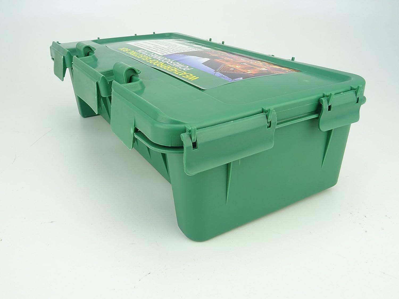 Bo/îte /à bouchon ext/érieure Christmas Concepts/® Large Green Weather Proof Box 42cm x 22cm x 10cm