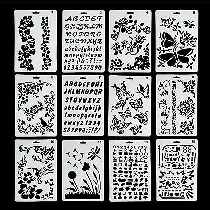 Amazon Com Lokipa Plastic Stencils Templates Set For Airbrush