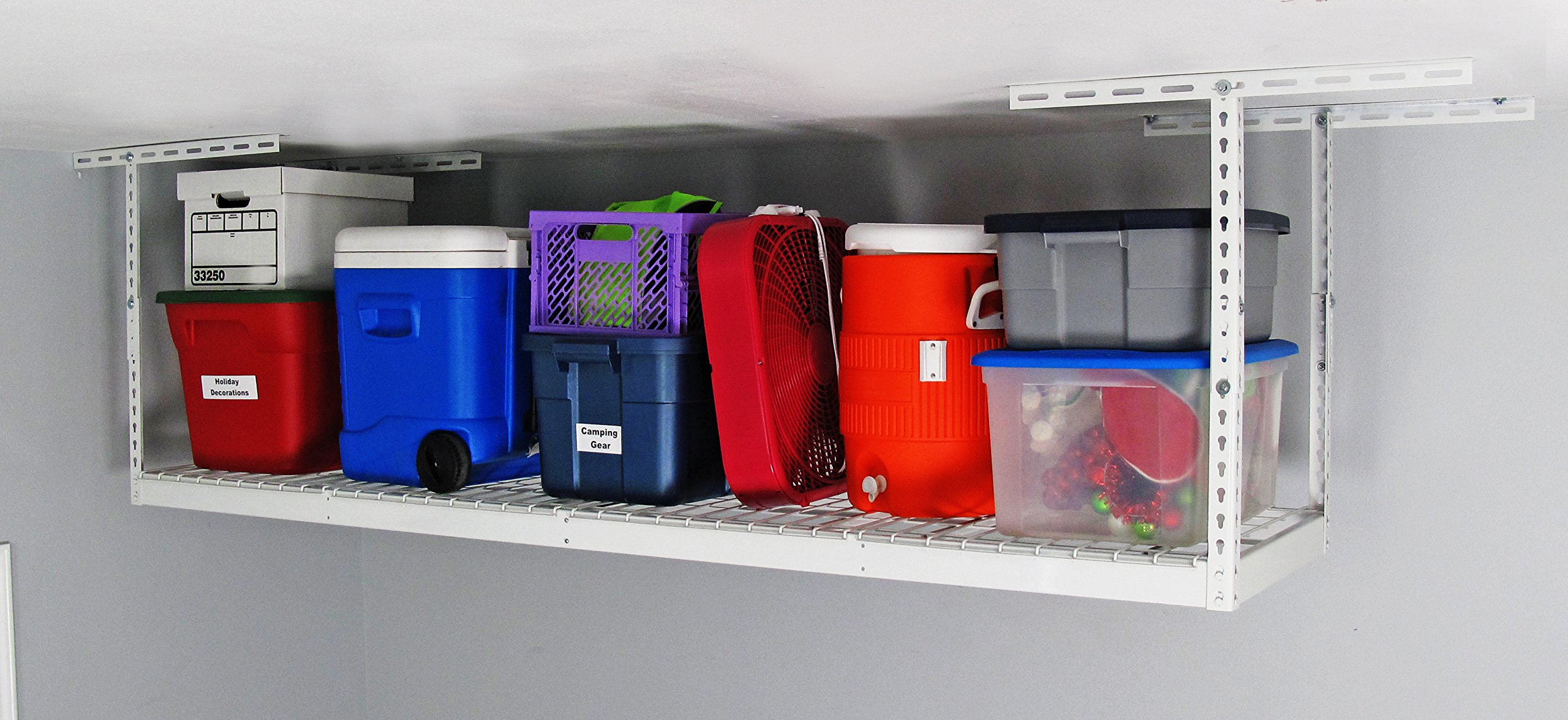 SafeRacks - 2x8 Overhead Garage Storage Rack (24''-45'')
