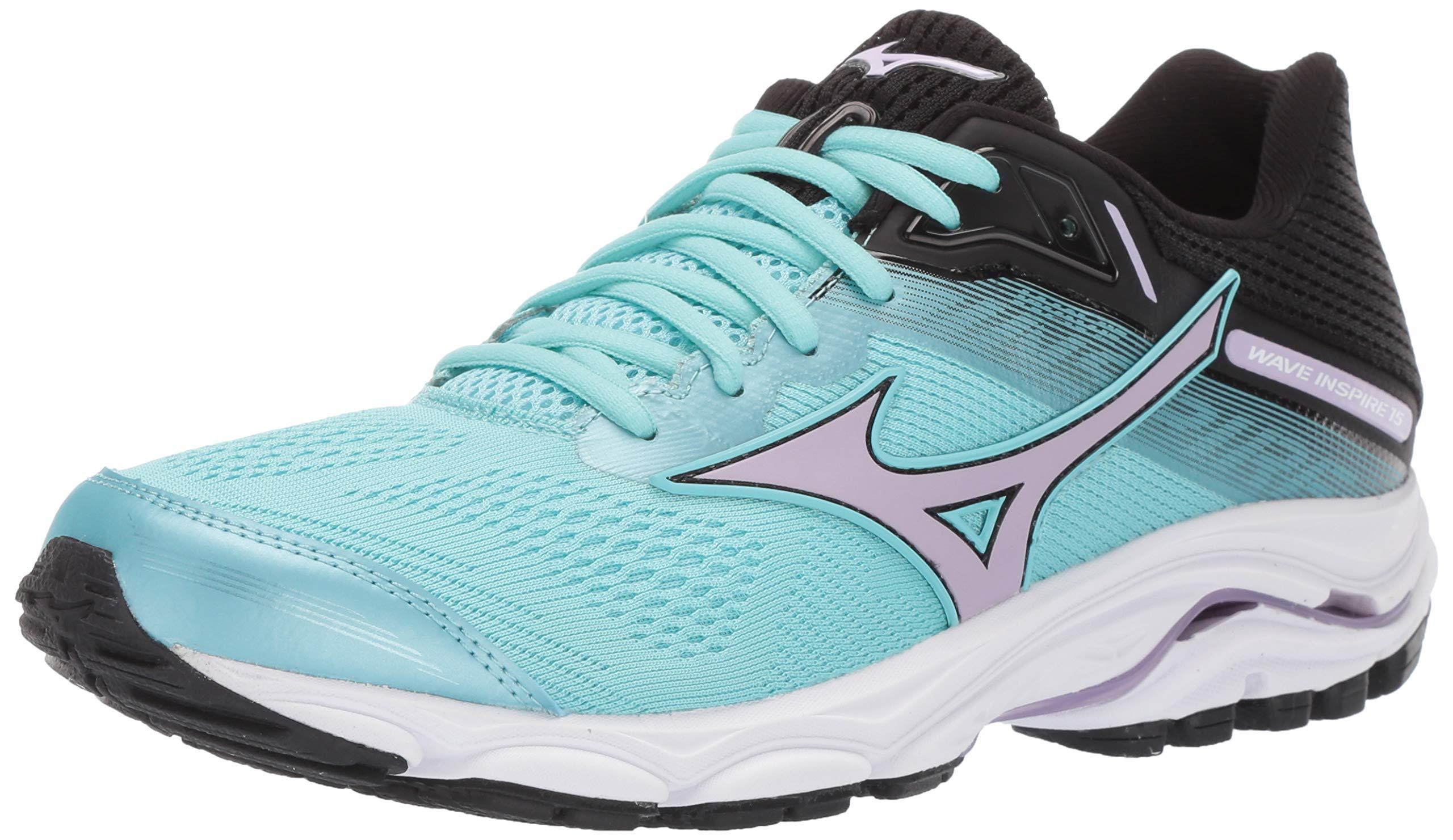 Mizuno Women's Wave Inspire 15 Running Shoe, Angel Blue-Lavender Frost 6 B US
