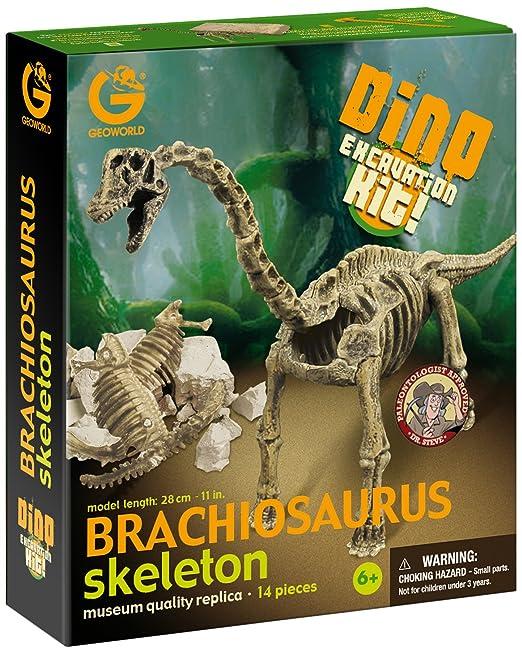 Geoworld CL121K Dino Excavation Kit Brachiosauro Scheletro