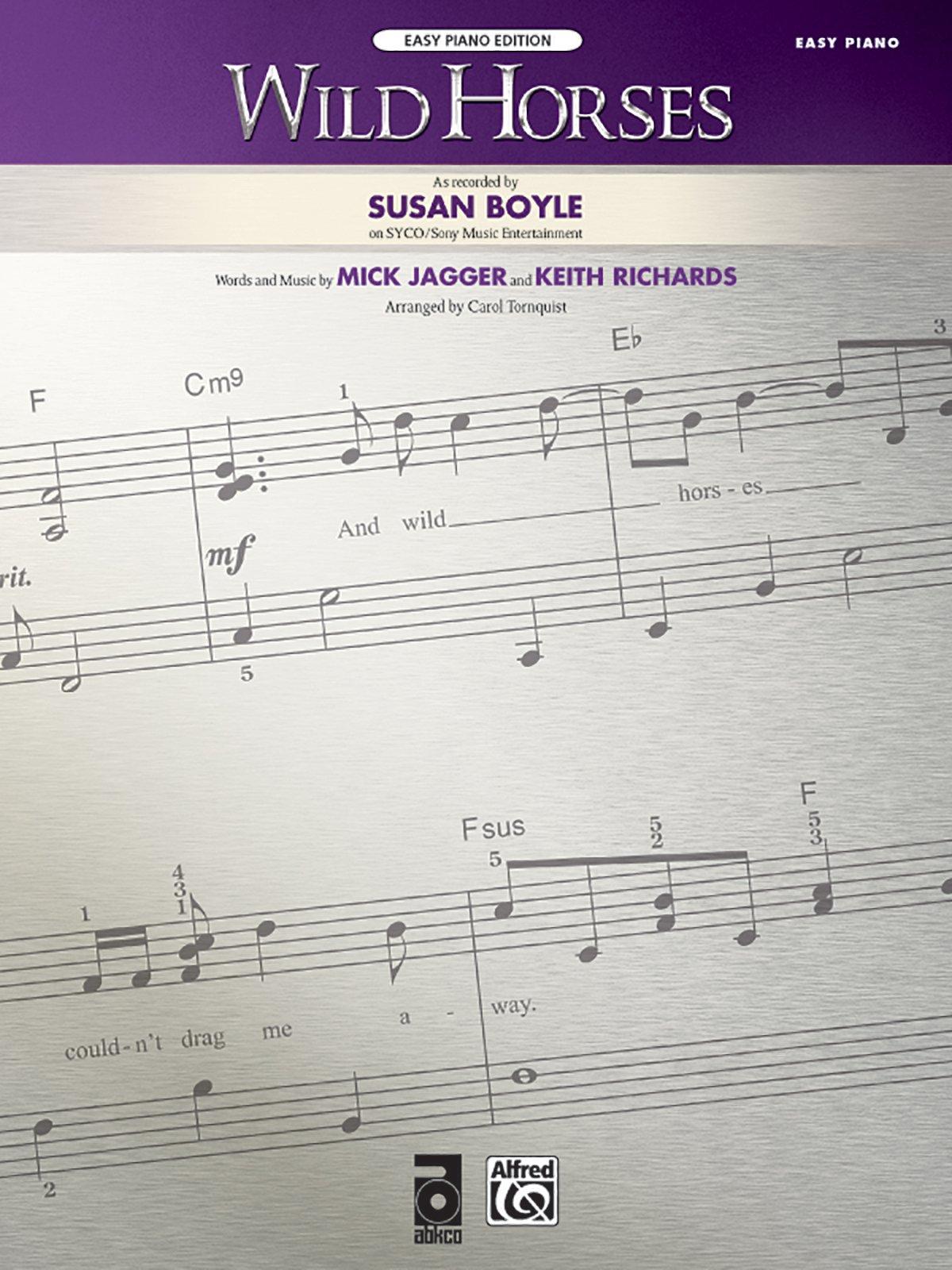 Download Wild Horses: Easy Piano, Sheet pdf epub