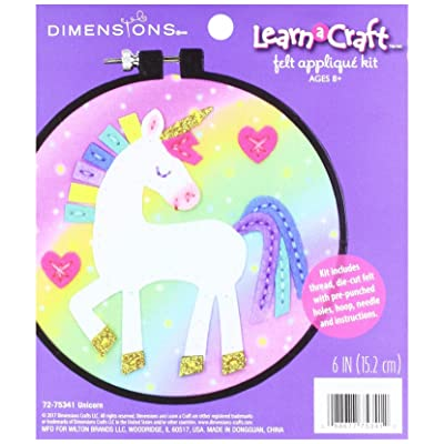 Dimensions Learn-A-Craft Felt Applique Kid's Craft, Unicorn: Home & Kitchen