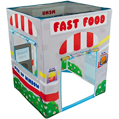 Play Tent Playhouse for Kids with Fast Food Drive Thru - Kid Tent for Indoor and Outdoor Play - Boy or Girl Tent for Kids: Toys & Games