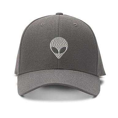 Plata Alien Cara bordado bordado gorra de béisbol gorro de ajustable: Amazon.es: Ropa y accesorios