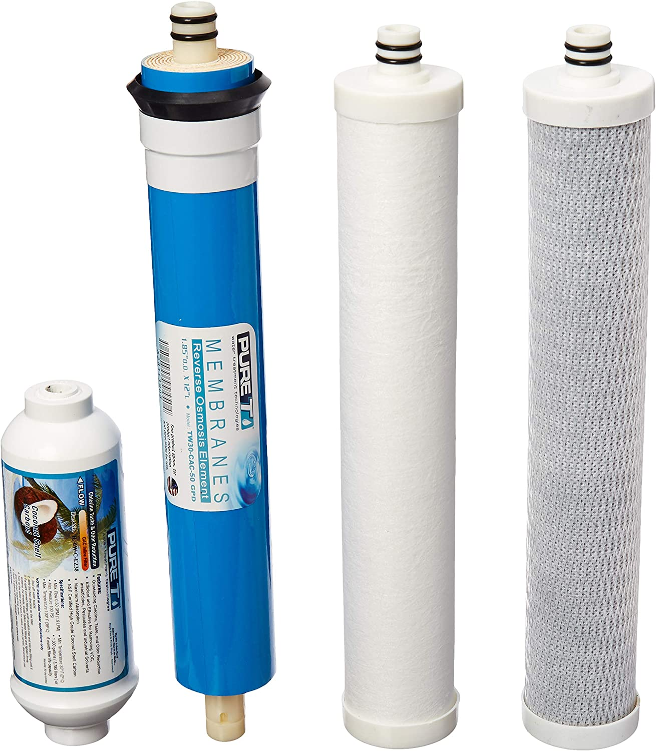 AC-50 and LC-50 Reverse Osmosis System KleenWater KWAC-30 Compatible with Culligan AC-30 3 Piece Set