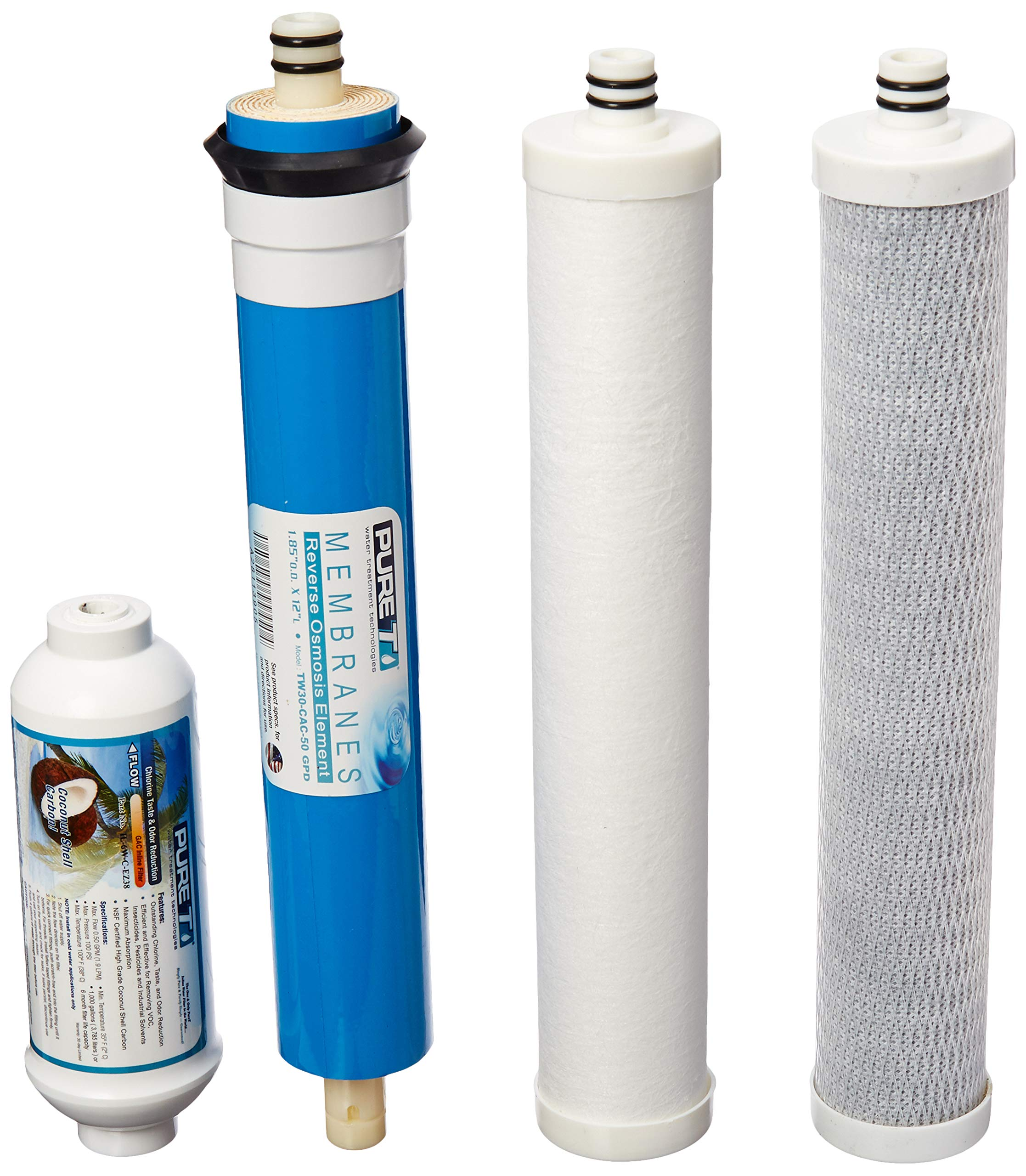 Filter Set with Membrane for Culligan AC-50 Reverse Osmosis System by IPW Industries