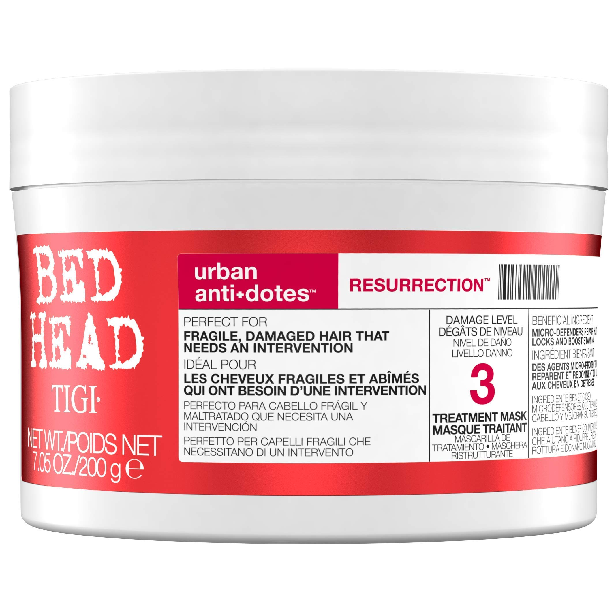 Bed Head by Tigi Urban Antidotes Resurrection Hair Mask for Damaged Hair 200g