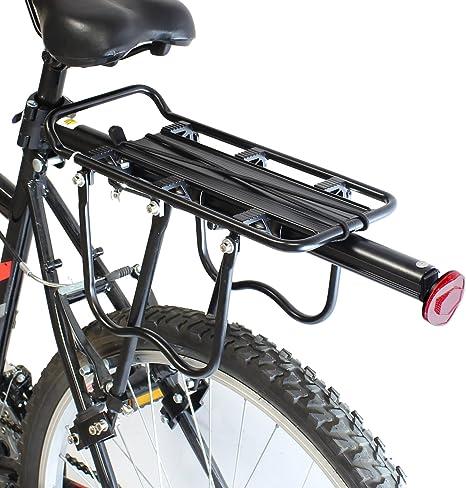PedalPro Portaequipajes trasero ajustable con reflector para ...