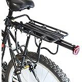 PedalPro Porte-bagages arrière pour vélo réglable avec réflecteur