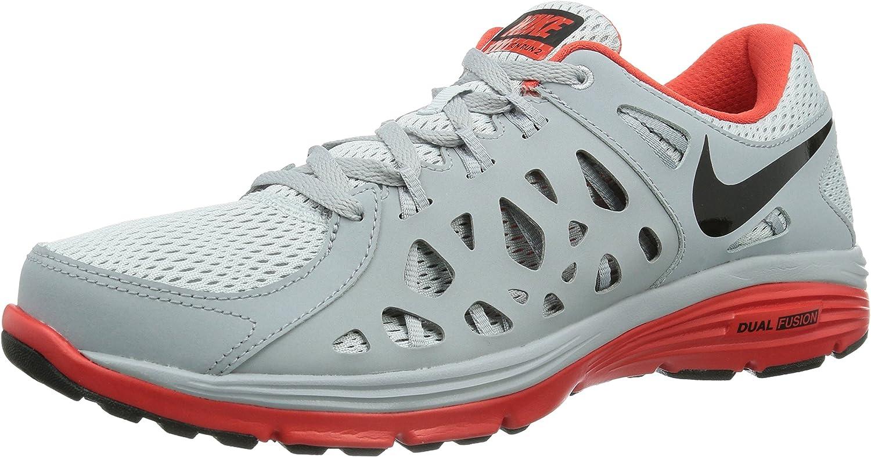 NIKE Dual Fusion Run 2, Zapatillas de Running para Hombre, Gris - Grau (Pr Pltnm/Blk-WLF Gry-Lt Crmsn), 47 EU: Amazon.es: Zapatos y complementos