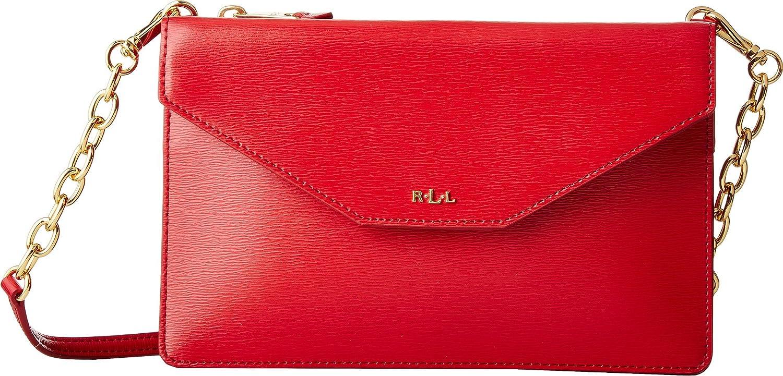 903f2d5c3b38 LAUREN Ralph Lauren Women s Newbury Erika Small Crossbody Red One Size   Handbags  Amazon.com