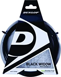 Amazon.com: Dunlop Black Widow 18 g – cuerda para raqueta de ...