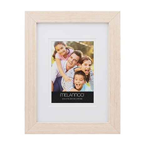 Amazon.com: Melannco 10 by 13-Inch Wood Frame for 5 by 7-Inch Photo ...