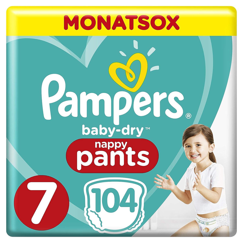 Pampers Baby-Dry Pants Taille 7 Facile à enfiler Pour jusqu'à 12 heures de séchage Monatsbox 8001090968265