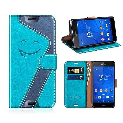 MOBESV Smiley Funda Cartera Sony Xperia Z3 Magnético, Funda Cuero Movil Sony Xperia Z3 Carcasa Case con Billetera/Soporte para Sony Xperia Z3, ...