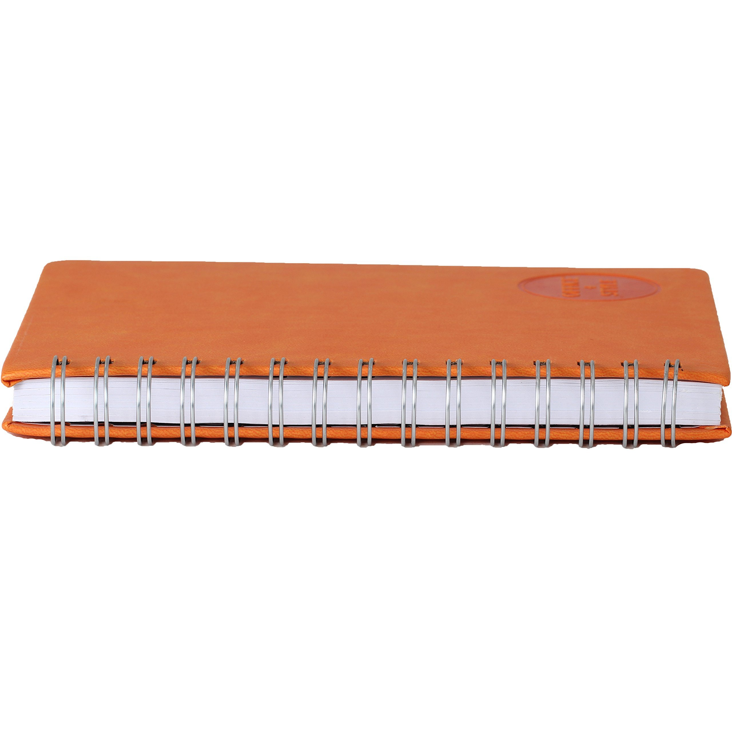Office+Style PU Personal Graph Notebook with Double Spiral Binding, 96 Sheets, Orange (OS3-NBORG) by Office+Style (Image #4)