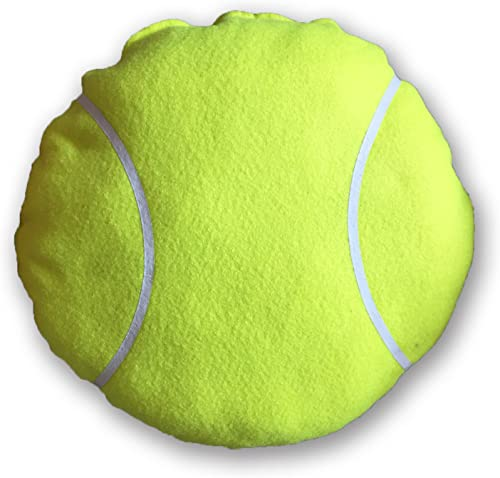 Zumer Sport Tennis Ball Material Decorative Throw Pillow – Made from Actual Fuzzy Ball Material – Great Decor for The Man cave, Basement, rec Room Couch or Chair – Unique Design – Neon Yellow