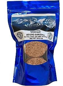 Freeze Dried Beyond Burger - 6 Patties per Package - Vegan Camping Emergency Food for Long Term Storage