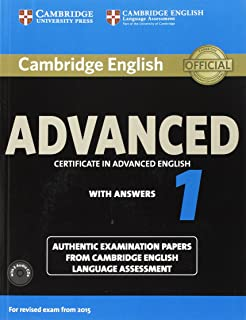 Cambridge English Advanced 1 For Revised Exam From 2015 Students Book Pack With