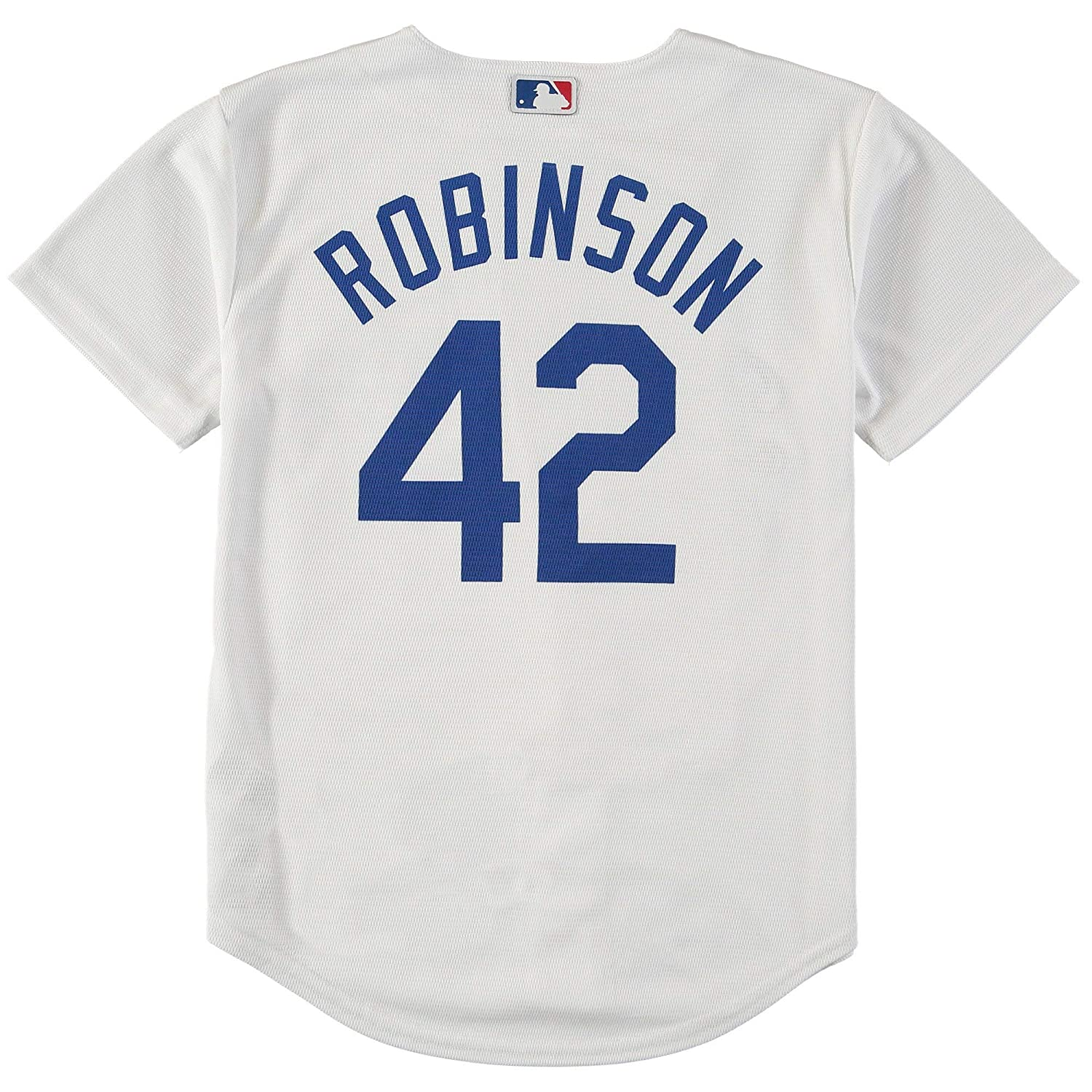 Amazon.com  Outerstuff Jackie Robinson Los Angeles Dodgers  42 Kids White  Cool Base Replica Jersey  Clothing 2dd90b8a293