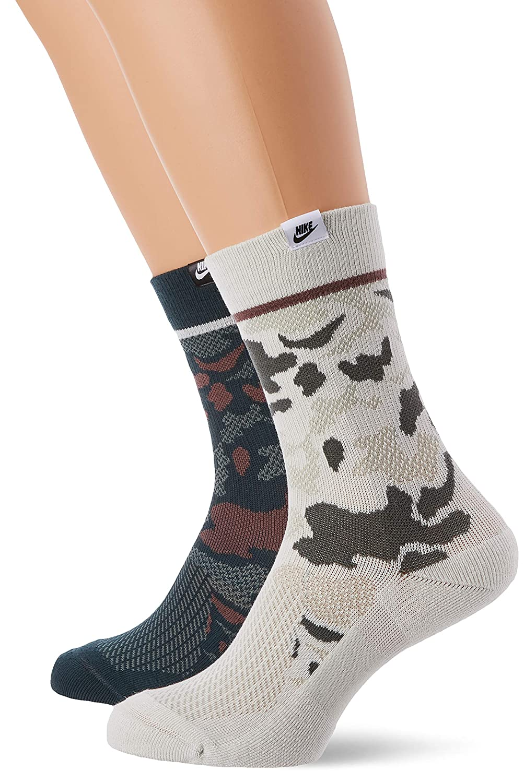Nike SNKR Sox Camo Crew Socks (2 Pair)