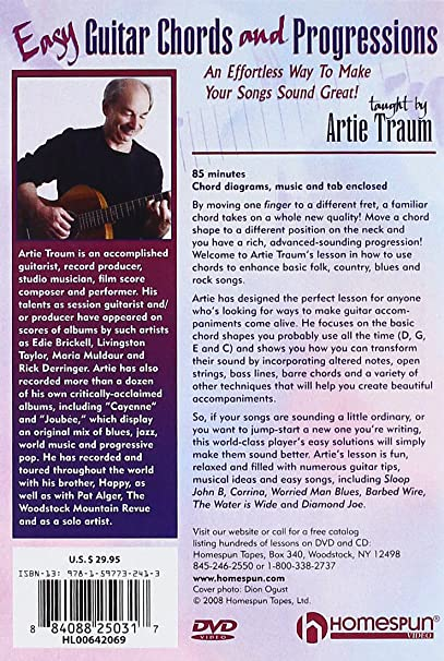 Amazon Easy Guitar Chords And Progressions Artie Traum Happy