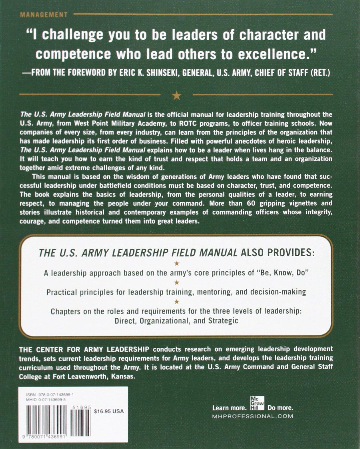 The U.S. Army Leadership Field Manual: Amazon.de: Leadership The ...