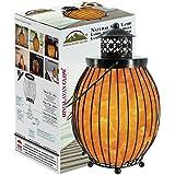 Himalayan Glow 1342 Lantern Style Basket Chunks,Pink Nightlight,Salt Lamp Bulb,(ETL Certified) Dimmer Switch,Pleasant & Relax
