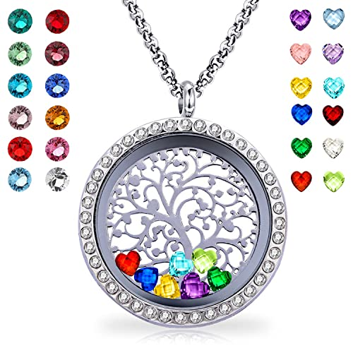 Amazon.com  YOUFENG Floating Living Memory Locket Pendant Necklace . 8a84ef6aeca5