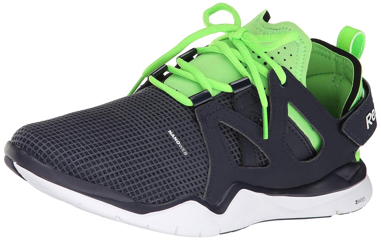 Reebok Men's Zcut TR Training Shoe B00LH19W8W 12 D(M) US|Faux Indigo/Solar Green/White