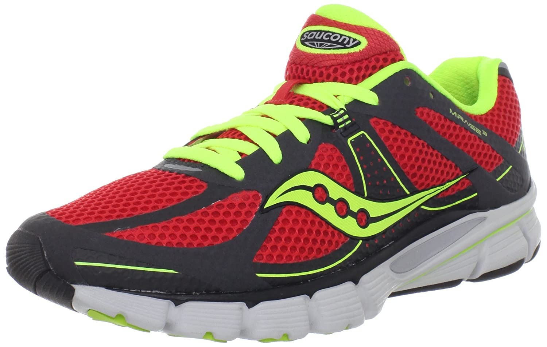 huge discount 35cb6 78cdb Saucony hombres Mirage 3 3 3 Running zapatos,gris rojo Citron,7 M US afd540