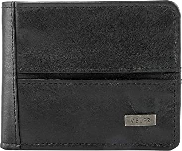 VELEZ Genuine Mens Soft Colombian Leather Bifold Wallet | Carteras de Cuero Colombiano para Hombres