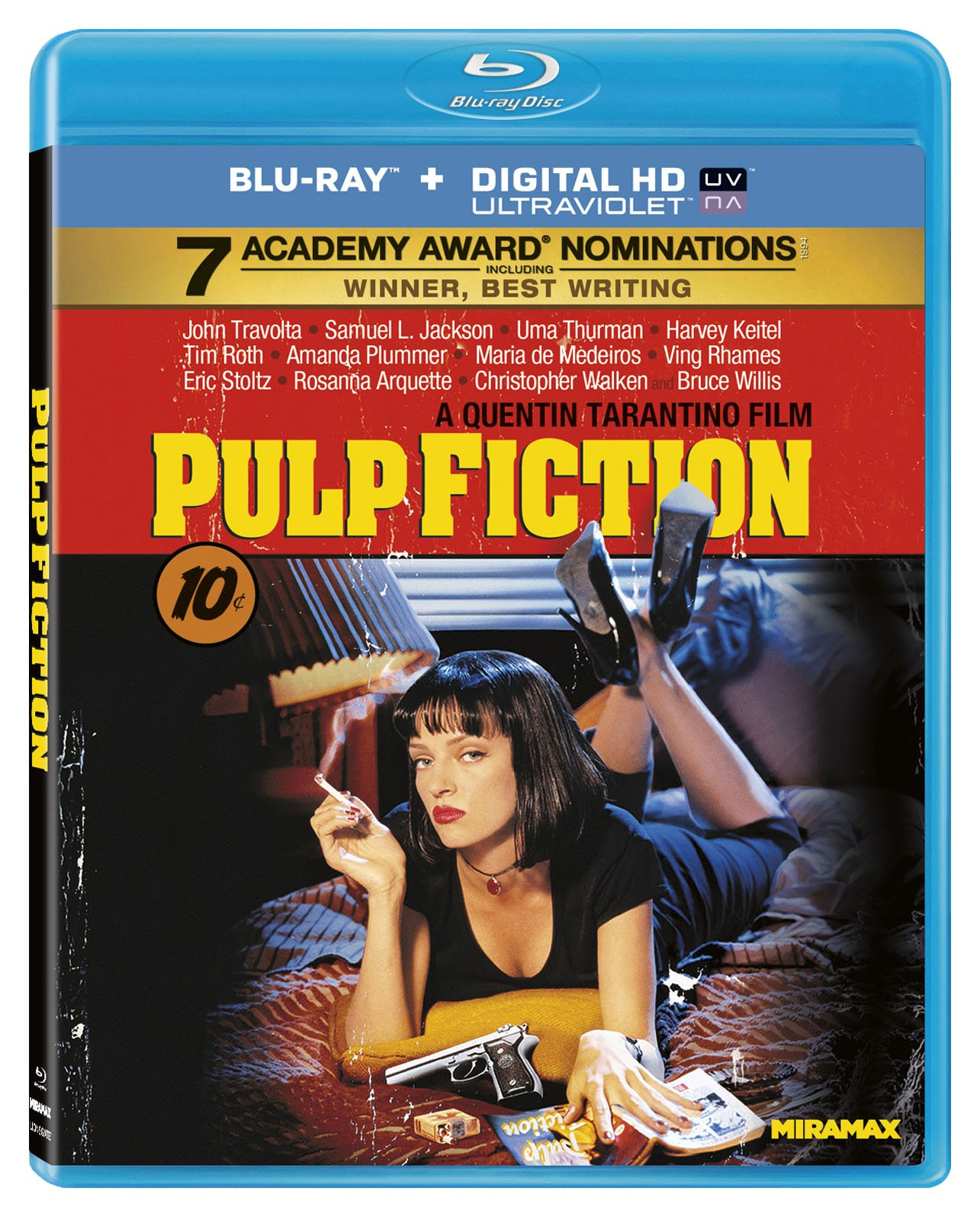 Blu-ray : Pulp Fiction (Remastered, Digital Theater System, AC-3, , Widescreen)