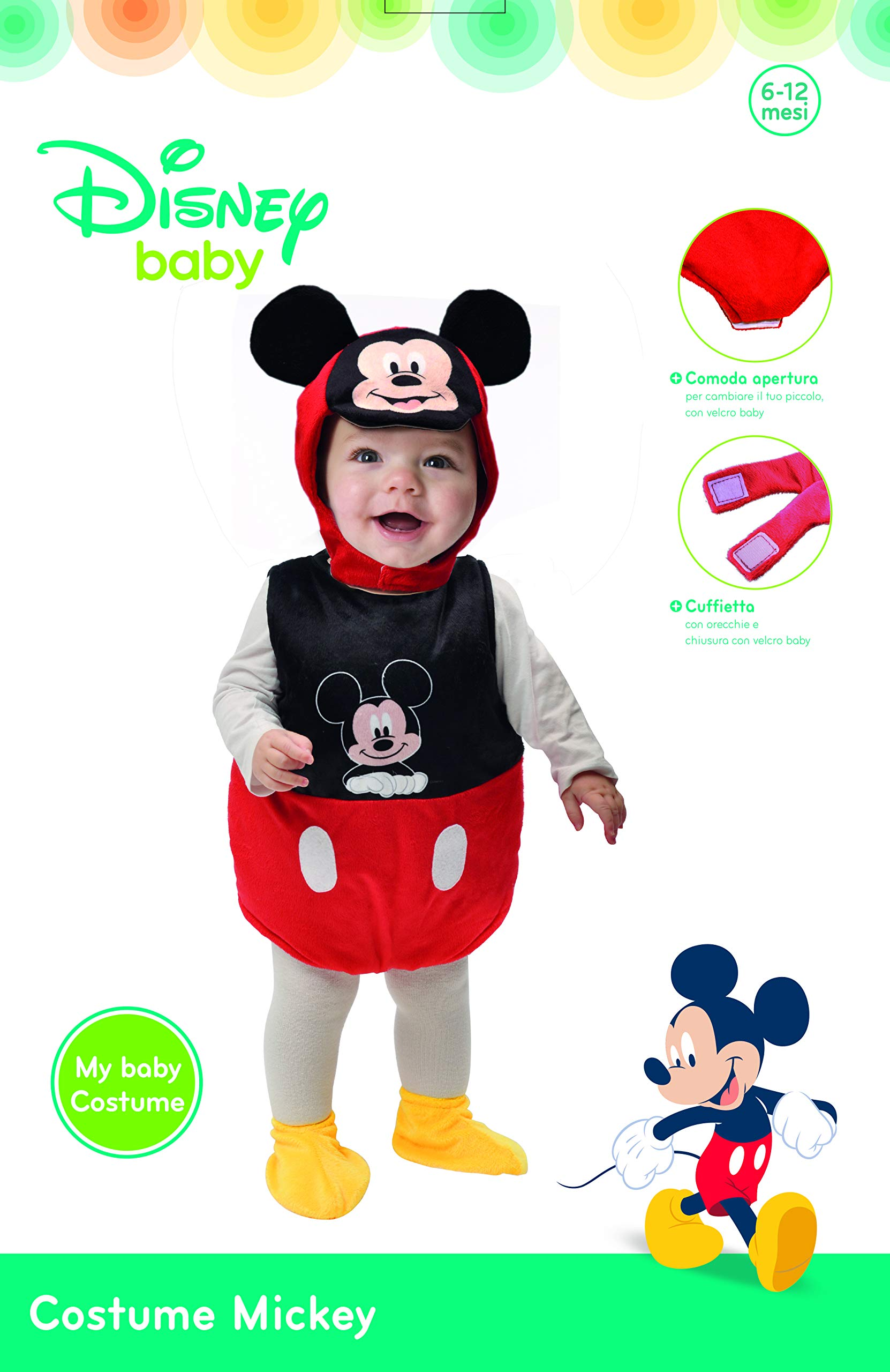 6-12 mesi Disney Costume Baby Dalmata 101 Bianco Ciao 11246.6-12