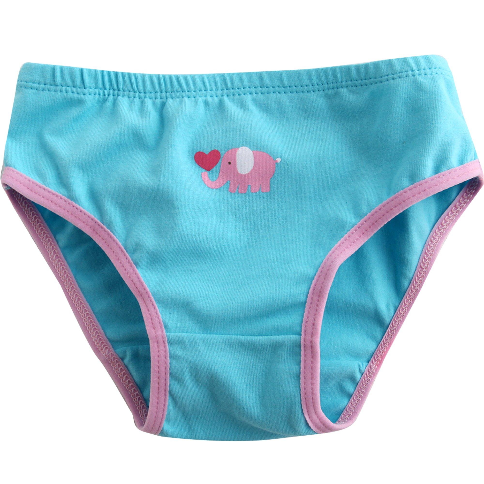 Vaenait baby 2-7 Yrs Girls Briefs 3-Pack Underwear Set White Pansy