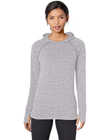 f0a1ccbd98872b Amazon Essentials Women's Brushed Tech Stretch Popover Hoodie