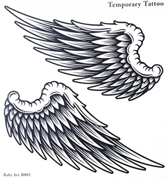 Amazon.com  Fake tattoos hot selling fashionable large Angel wings  temporary tattoo sticker for women and man  Beauty