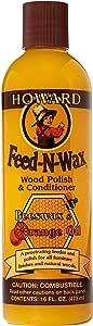Howard FW0016 Feed-N-Wax Wood Polish and Conditioner, 16-Ounce