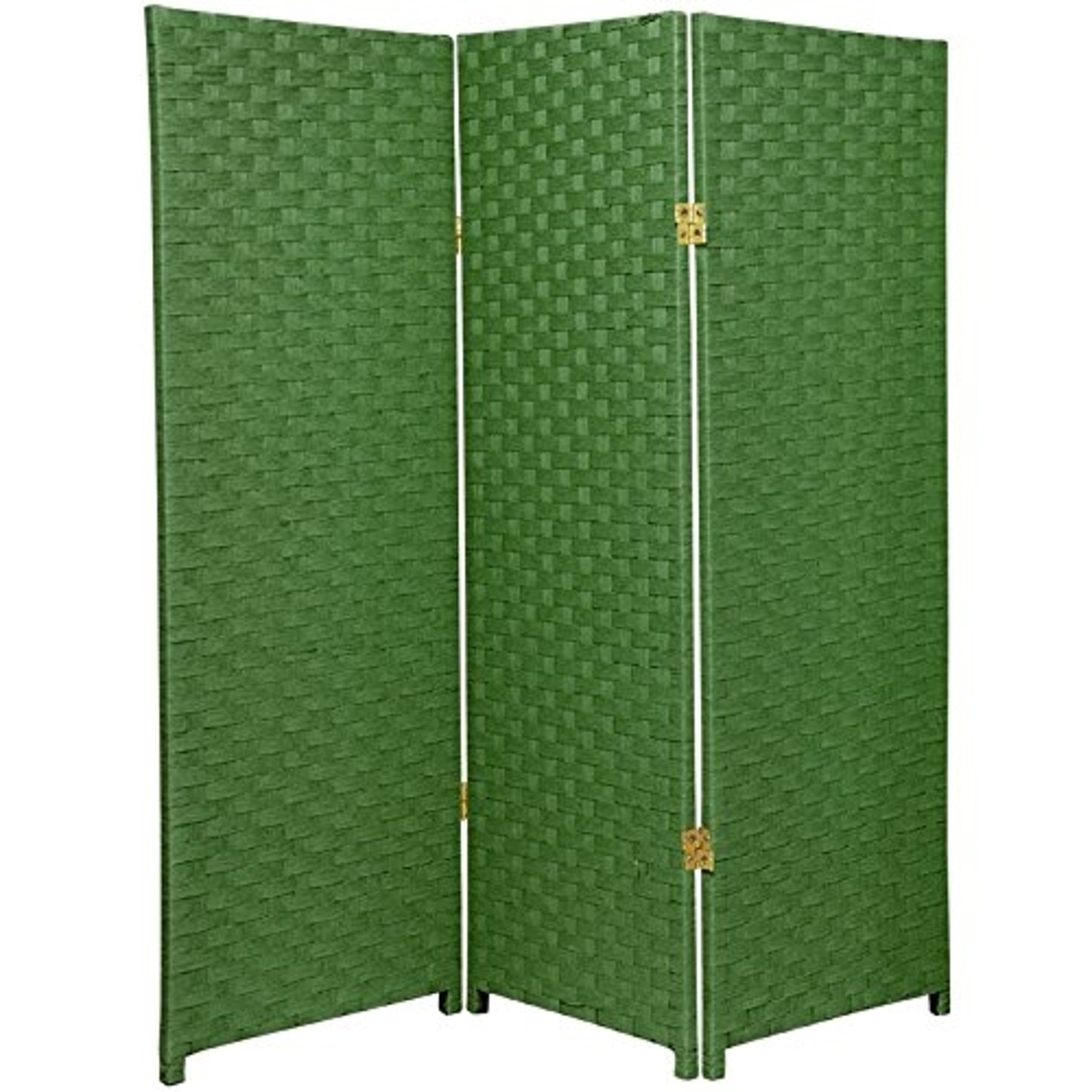 Natural Plant Fiber Woven Room Decor Light Green 3 Panels Divider by Roman Shade Unlimited