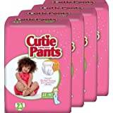 Cutie Pants Toddler Training Pants (Girls, Size 3T - 4T, 23-Count), Pack of 4