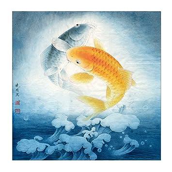 Amazoncom Feng Shui Products 2 Lucky Japanese Koi Fish Wall Art