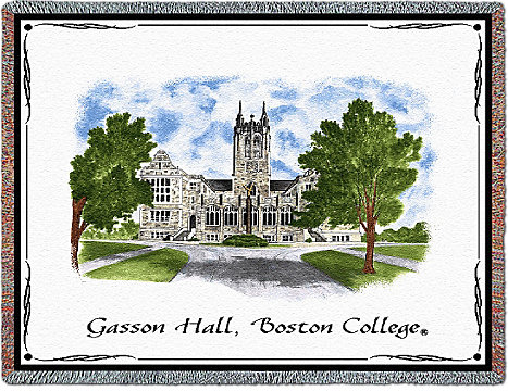 1316B Tapestry Pillow | Boston College