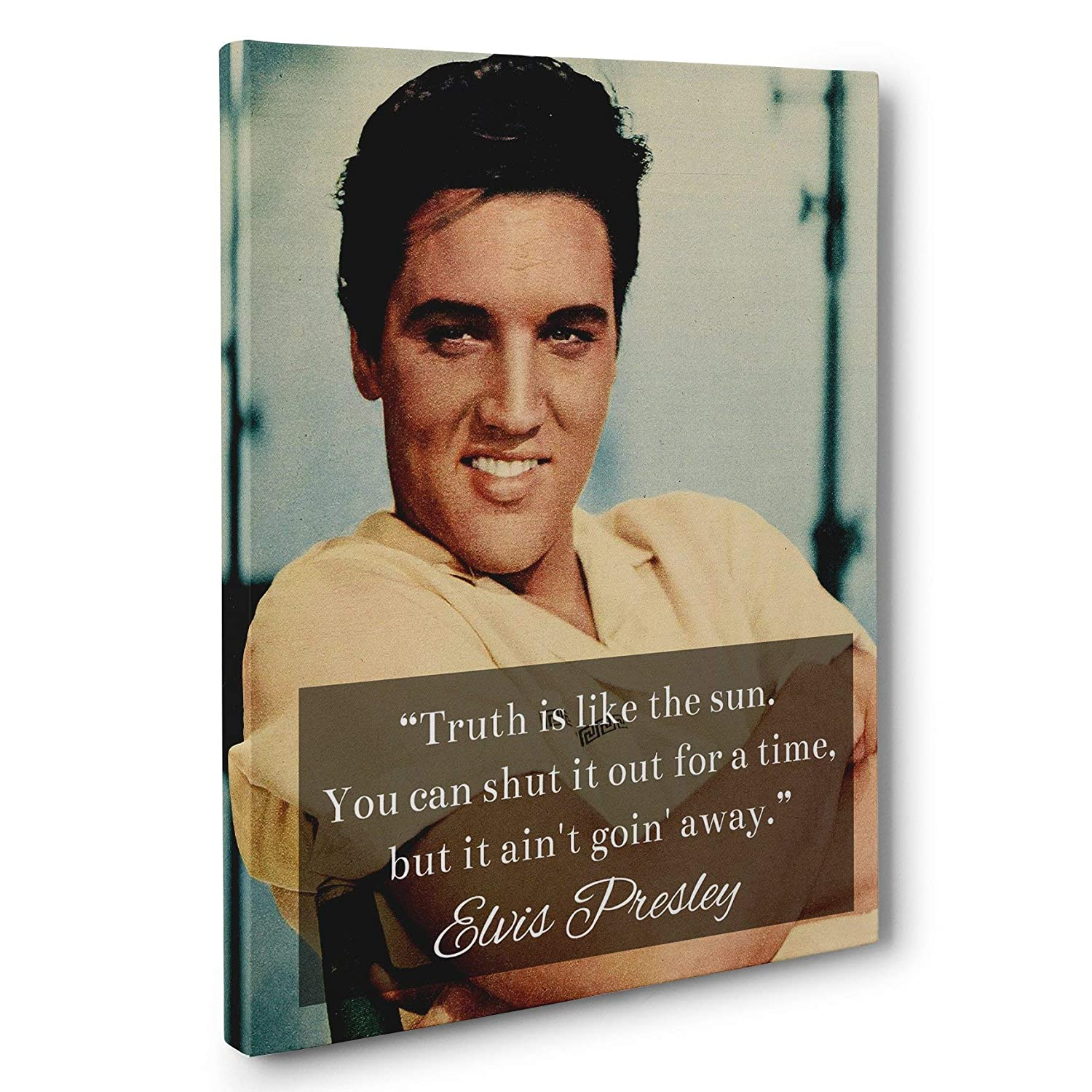 Elvis Presley Quote CANVAS Truth is Like the Sun