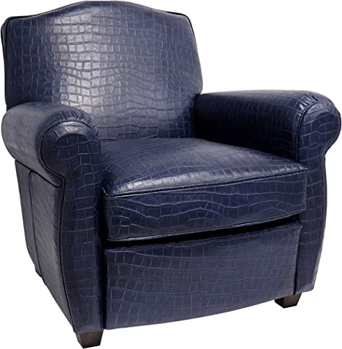 Pasargad Home Vicenza Collection Leather Wing Chair