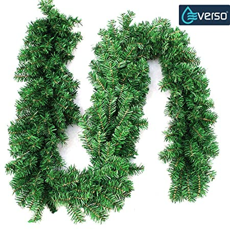 270cm x 25cm plain green christmas garland decoration 9ft undecorated xmas green pine garland 2pcs - Christmas Garland