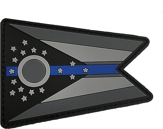 Stevens Tactical Shop Subdued Delgada línea Azul Bandera de Ohio Estado PVC Parche: Amazon.es: Jardín