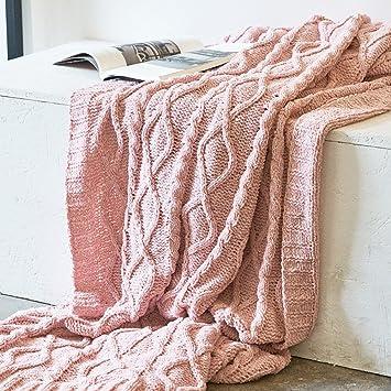 Shasha Decke Stricken Weicher Baumwolle Tagesdecke Geometrische