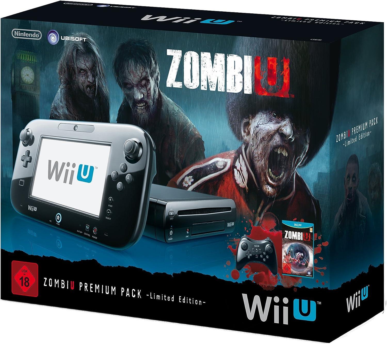 Nintendo Wii U - Pack Premium - 32 GB - Incluye Zombie U y Pro Controller Negro [Importación alemana]: Amazon.es: Videojuegos
